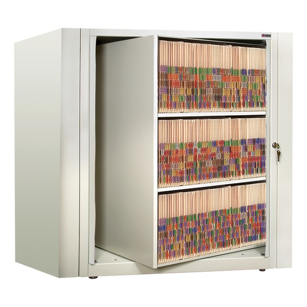 EZ2 Rotary Action File Cabinet - Starter Unit w/ Three Shelves