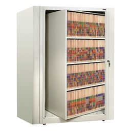 EZ2 Rotary Action File Cabinet - Starter Unit w/ Four Shelves