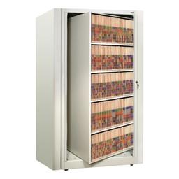 EZ2 Rotary Action File Cabinet - Starter Unit w/ Five Shelves