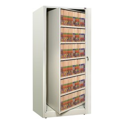 EZ2 Rotary Action File Cabinet - Starter Unit w/ Six Shelves