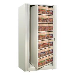 EZ2 Rotary Action File Cabinet - Starter Unit w/ Seven Shelves