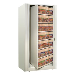 EZ2 Rotary Action File Cabinet - Starter Unit w/ Seven Shelves