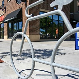 Bike Bike Rack - shown in galvanized steel