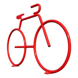 Bike Bike Rack - shown in red