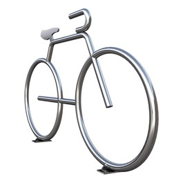 Bike Bike Rack in Stainless Steel