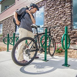 Bike Hitch - shown in hunter green