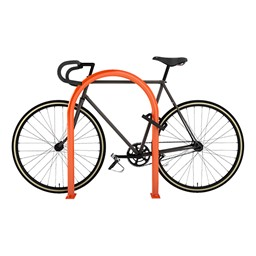 Hoop Bike Rack - shown in orange