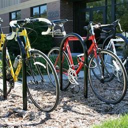 Hoop Bike Rack - shown in black
