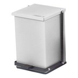 Step-On Waste Receptacle - White (8 Gallons)