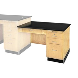 Instructor's Desk w/ Student Side Desk