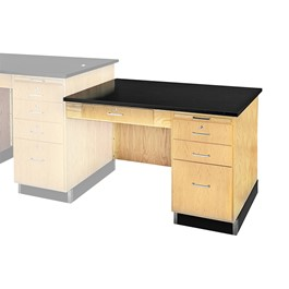 Instructor\'s Desk w/ Student Side Desk