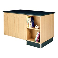 Instructor's Desk w/ Student Side Desk - Storage