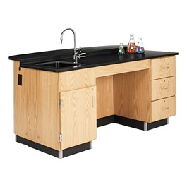 VersaCurve w/ TV Mount, Sink Cabinet and Three Drawer Cabinet