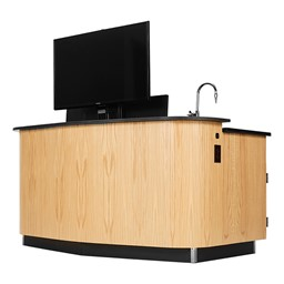 VersaCurve Presentation Desk - TV not included