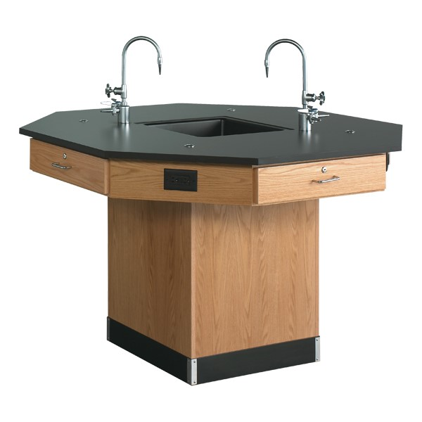 Octagon Lab Workstation - Shown w/ pedestal base