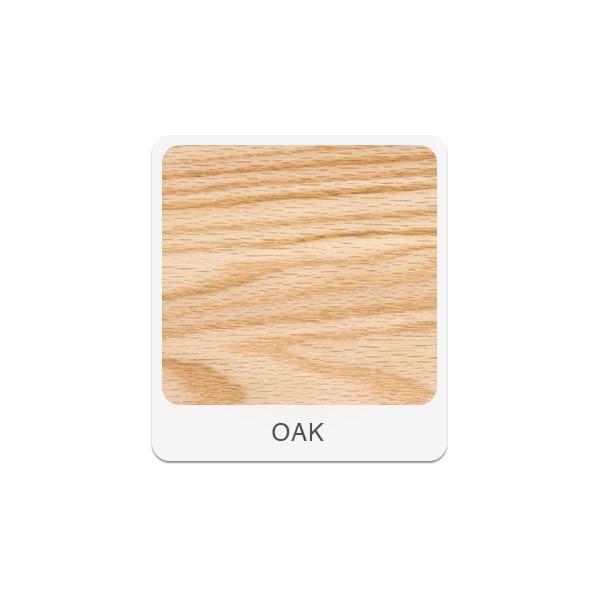 Two-Student Science Cabinet Table w/ Storage - Plain Apron - Epoxy Resin Top (Door) - Oak