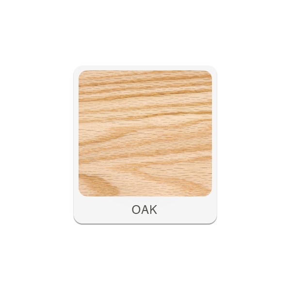 Four-Student Science Cabinet Table - Plain Apron - ChemGuard Top (Doors & Drawers) - Oak