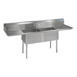 "High Quality Compartment Sink - 2 Sinks (18\"" L x 18\"" W x 18\"" D)"