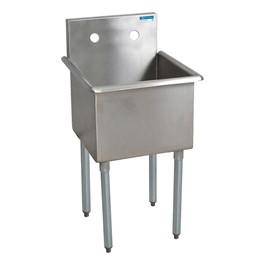 """Budget Compartment Sink - 1 Sink (18\"""" L x 18\"""" W x 14\' D)"""