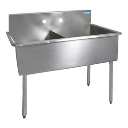 "Budget Compartment Sink - 2 Sinks (18"" L x 18\"" W x 12\"" D)"