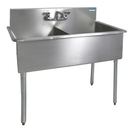 """Budget Compartment Sink - 2 Sinks (18\"""" L x 18\"""" W x 12\"""" D)"""