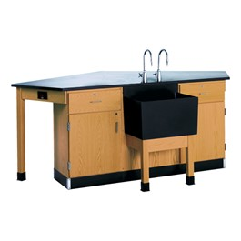 Forward Vision Four-Student Workstation w/ End Sink