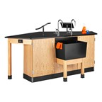 Forward Vision II Four-Student Workstation - Compact version shown w/ lab hands