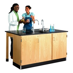 Forward Vision III Two-Student Workstation w/ Door Cabinet