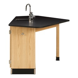 Forward Vision II Four-Student Workstation w/ Drop-In Sink - Compact