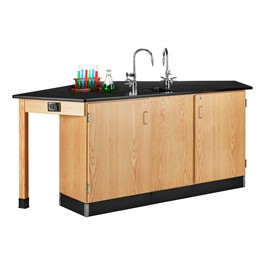 Forward Vision I Four-Student Workstation w/ Drop-In Sink