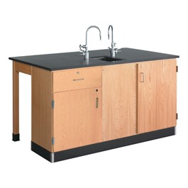 Forward Vision III Two-Student Workstation w/ Drawers & Door Cabinet