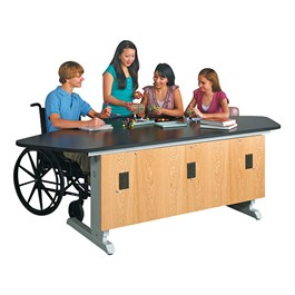 "ADA Lab Workstation - Hand-Crank Height Adjustment (50"" W x 96\"" L)"