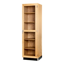 "Tall Wood Storage Cabinet w/ Glass Doors (24"" W)"