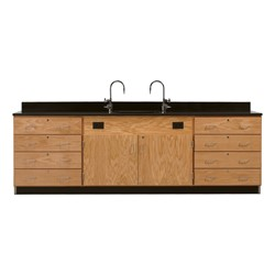 Wall Service Bench w/ Storage Cabinets - Drawers Only