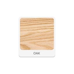 Tote Tray & Shelving Storage Cabinet - Oak