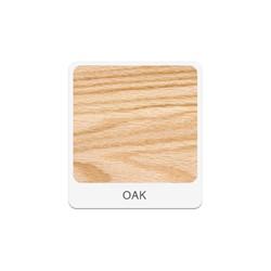 "Tall Wood Storage w/ Shelves & Glass Doors (36"" W) - Oak"