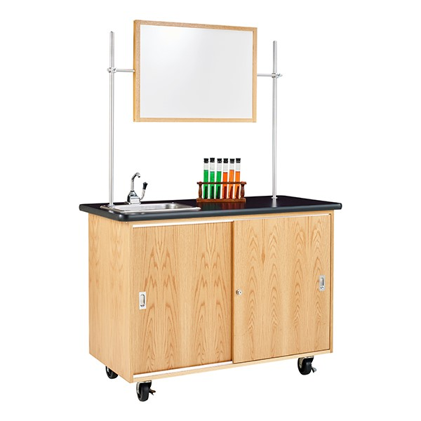 Economy Mobile Lab Table w/ Sink - Whiteboard & test tubes not included
