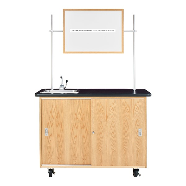 Economy Mobile Lab Table w/ Sink - Whiteboard not included