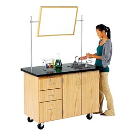 Mobile Desk w/ Sink - Whiteboard & test tubes not included