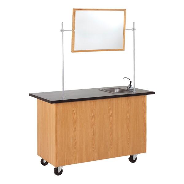Mobile Desk w/ Sink - Whiteboard not included