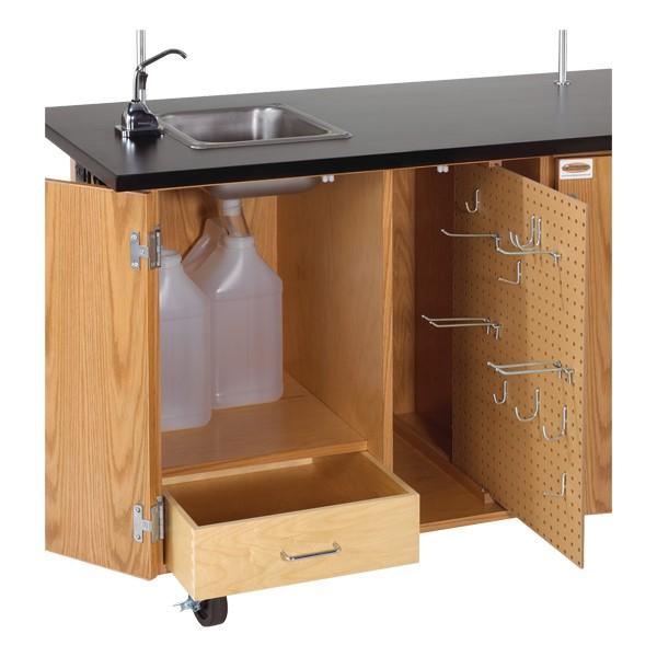 Mobile Desk w/ Sink - Open