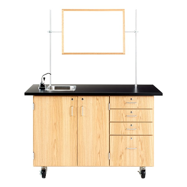 Extra-Large Mobile Lab w/ Sink & Mirror/Markerboard
