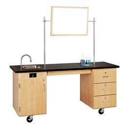 ADA Mobile Lab Unit w/ Sink (Whiteboard & crossbar set not included)