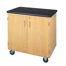 Mobile Storage Cabinet w/ Plastic Laminate Top