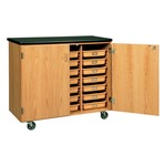 Mobile Tote Tray Cabinet