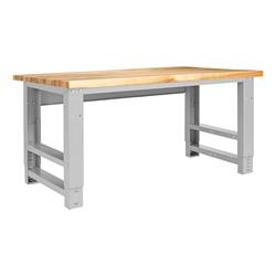 "Fab-Lab Adjustable-Height Workbench (72"" W x 30"" D) - Maple"