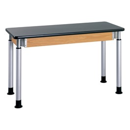 "Adjustable-Height Science Table w/ Silver Powder-Coated Legs - ChemGuard Top (24"" W x 72\"" L)"