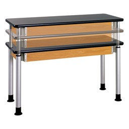 Adjustable-Height Science Lab Table w/ Laminate Top - Silver Powder Coated Legs
