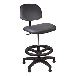 """Lab Compliant Tech Chair 21"""" - 28"""" Adjustable Height"""