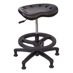 """Lab Compliant Tractor Stool - 21"""" - 33"""" Adjustable Height"""